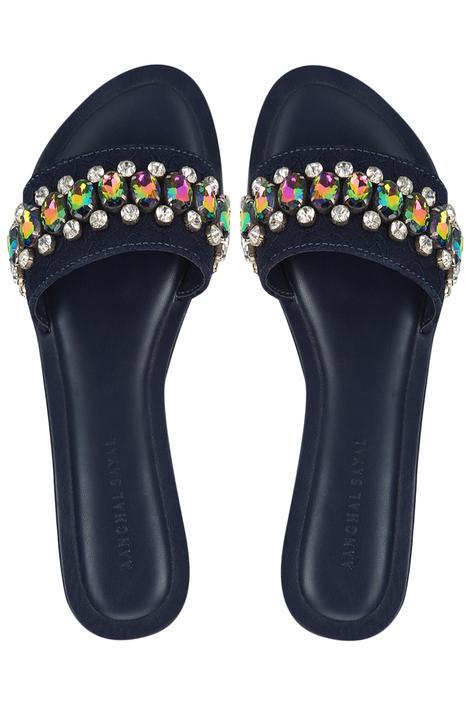 Amoli Crystal Sliders