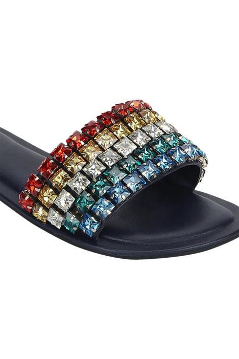 Anokhi Crystal Sliders