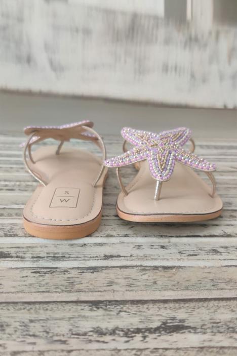 Lucy Beaded Starfish Sandals