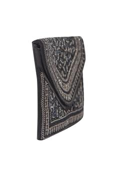 Embellished Flap Clutch with Sling