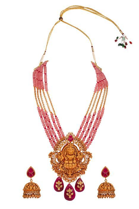 Temple Pendant Necklace Set