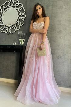 One Shoulder Flared Gown