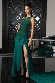 Slit Trail Gown