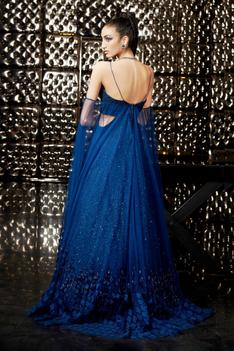 Cold Shoulder Draped Gown
