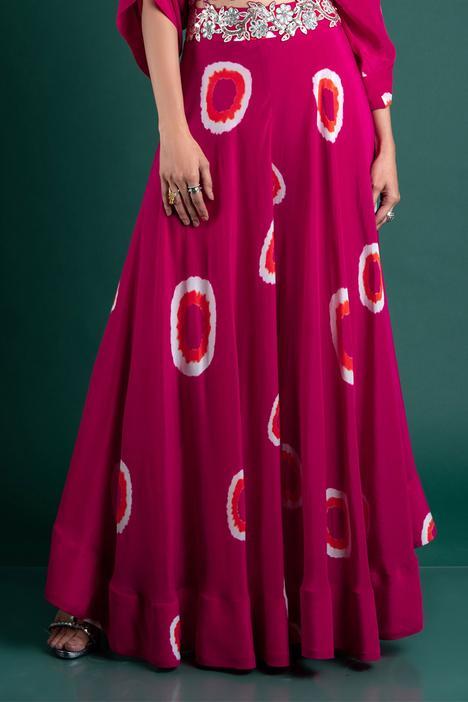 Tie & Dye Sharara & Off Shoulder Top