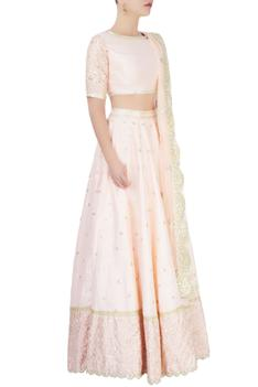 Powder pink lehenga set