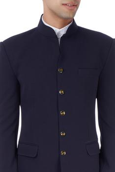 Navy blue bandhgala