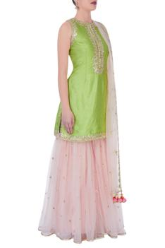 Green & pink gota sharara set