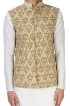 Light grey embroidered jacket