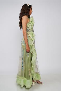 Melody Flared Ruffle Gown