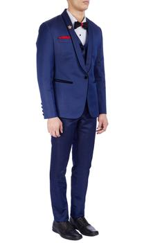 Royal blue tuxedo jacket set