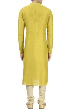 Chanderi Handloom Silk Embroidered Kurta