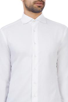 White cotton embroidered shirt