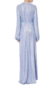 Embellished Wrap Gown
