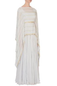 Embroidered Cape with Anarkali