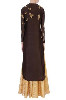 Brown Kurta & Skirt Set