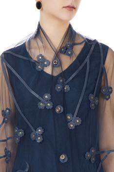 Sheer Embroidered Cape