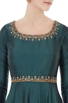 Silk Jacket & Anarkali Set