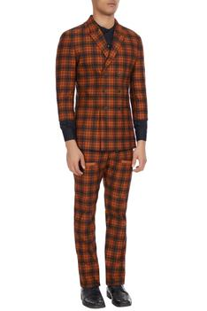 Two-piece checkered suit