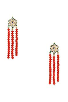 Faceted bead & kundan necklace with earrings