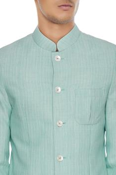 Light blue cotton bandhgala