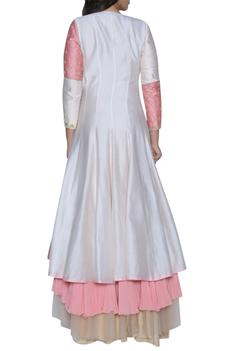Embroidered layered anarkali with dupatta
