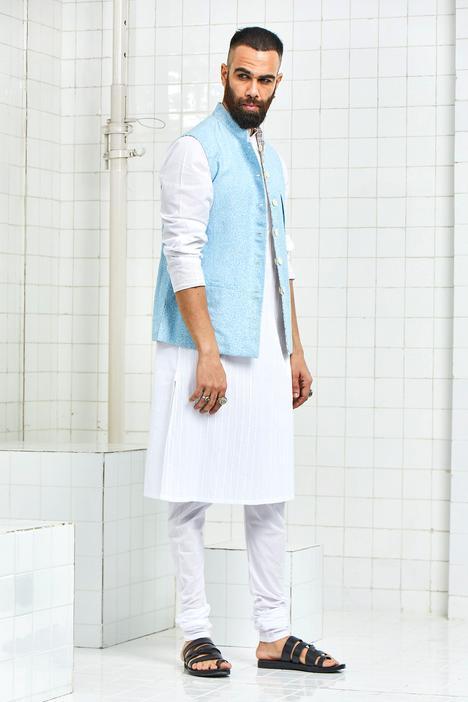 Linen Printed Nehru Jacket