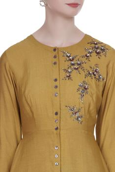 Sequin embroidered asymmetric tunic