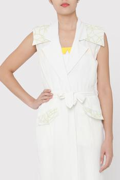 Cotton Polyester Trench Jacket