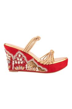 Embroidered Knotted Wedges