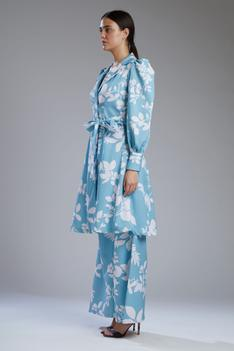 Floral Print Trench Tunic