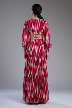 Printed Tiered Maxi Skirt