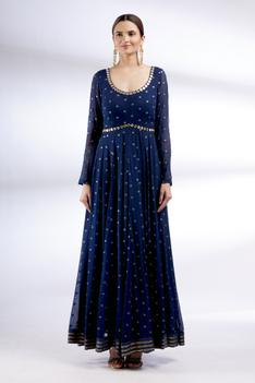 Hand Embroidered Anarkali with Dupatta