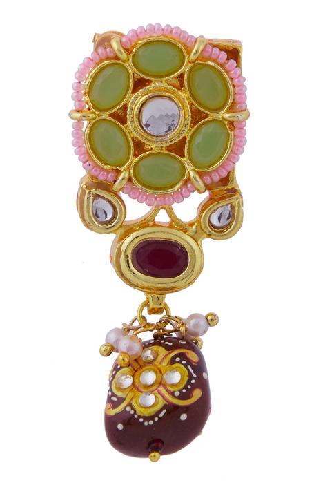 Floral Bead Drop Choker Set