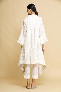 Striped Asymmetric Kurta & Pant Set