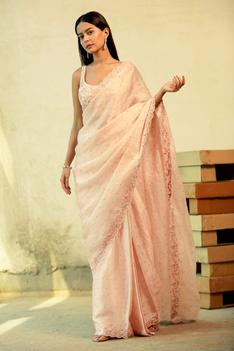 Pre-Draped Satin Organza Saree