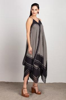 Chanderi Asymmetric Dress