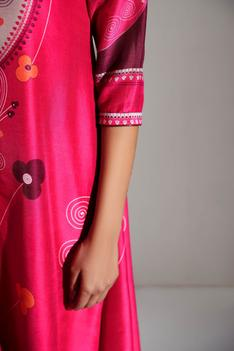 Chanderi Printed High Low Tunic
