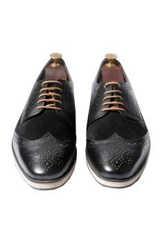 Handcrafted Brogue Derby Shoes
