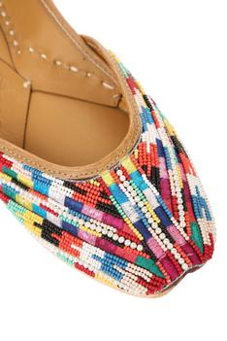 Silk Bead Embroidered Juttis