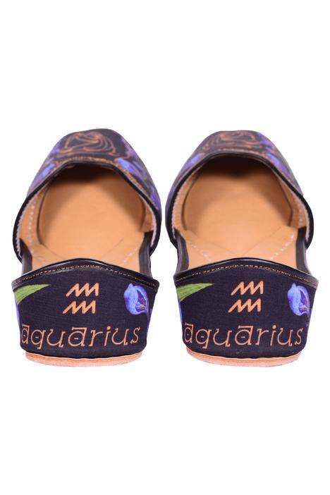 Printed Aquarius Juttis