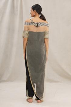 Sheer Overlay with Draped Jumpsuit
