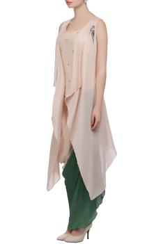 Blush pink waterfall cape