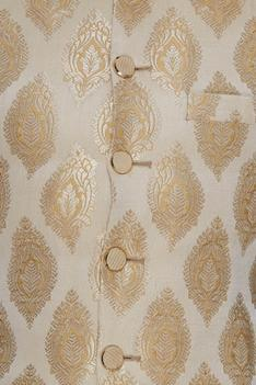 Cream & gold brocade bundi