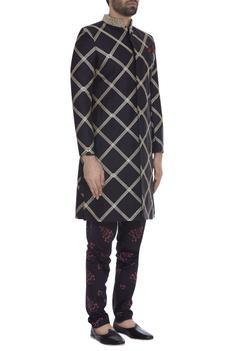 Embroidered jacket with kurta & pants..