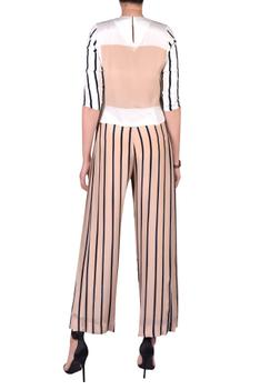 Striped crop top with pants