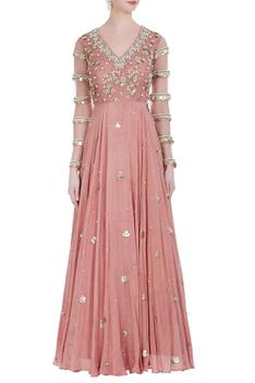 Sequin embroidered anarkali gown