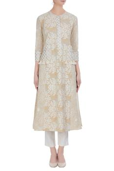 Flower print kurta with pants