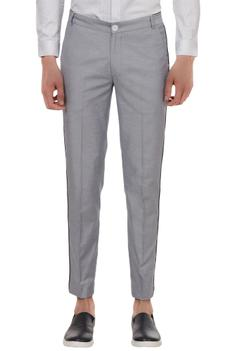 Nautical slim fit cotton twill trousers