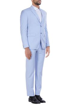 Wool notch lapel blazer with formal trousers set